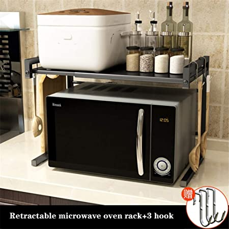 Rejilla de horno de microondas expandible, estante y organizador ...
