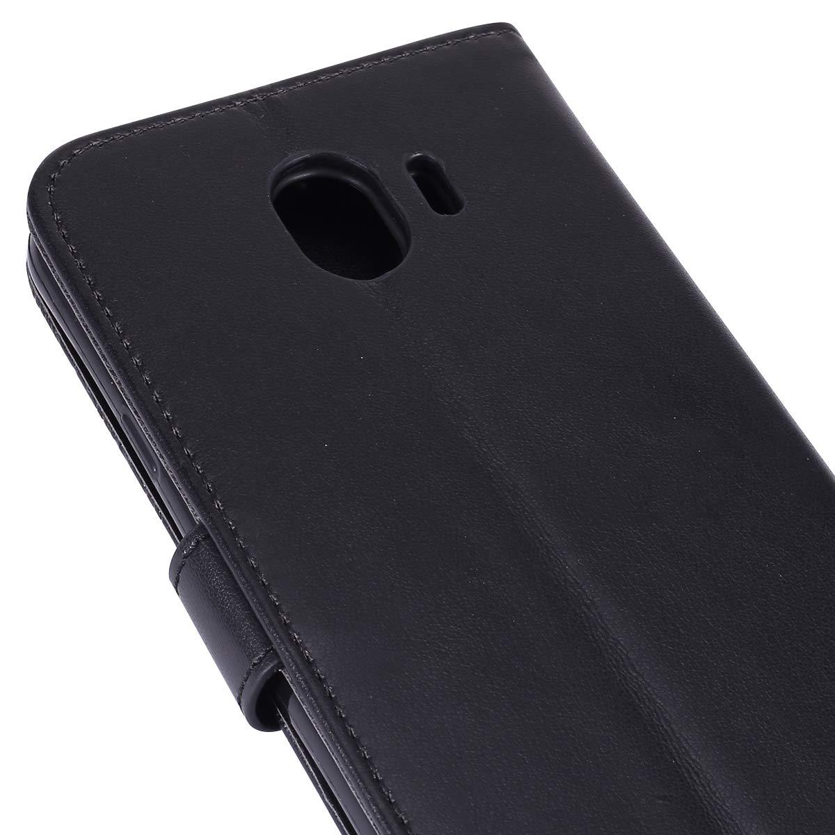 MoreChioce compatible avec Coque Samsung Galaxy J4 2018 Housse avec Rabat,Premium Fleur Dentelle Pourpre Clapet Case Portefeuille en Cuir Bookstyle Protective Flip Case Magn/étique avec Support
