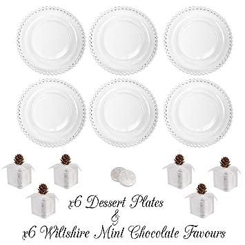 Set de seis Bella Perle platos de postre – Set de regalo con seis cajas de