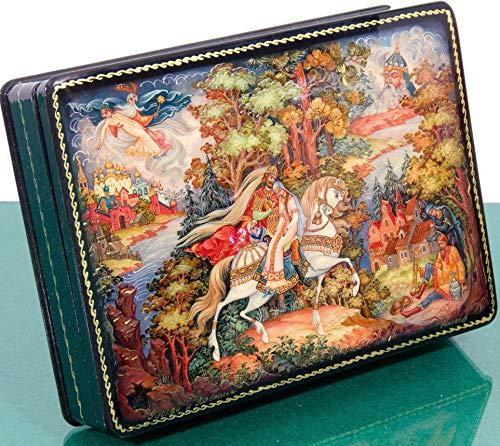 Russian Lacquer Box - craftsfromrussia Russian Lacquer Miniature - Jewelry Trinket Box - Series #2