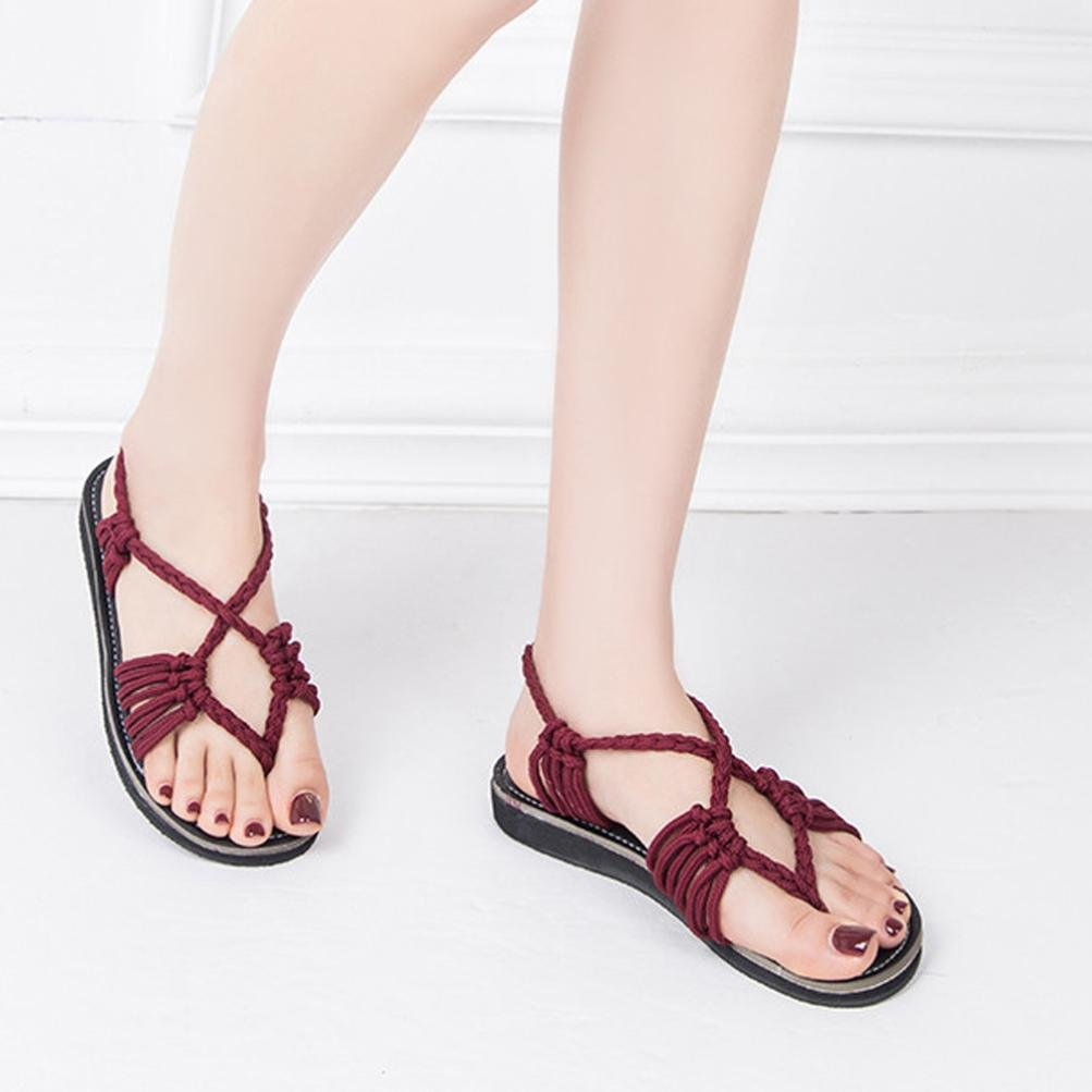 0205d367594544 ... Women s Flat Sandals Summer Clip Toe Flip Flops Thongs Bohemian Style  larger image