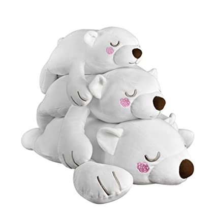 Amazon.com: molizhi 3 Pcs oso polar de peluche almohada ...