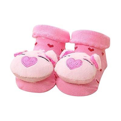 0-24 M Bebe Naissance Chausettes Socquette Animaux Chausson Cotton Anti-slip Cute Socks