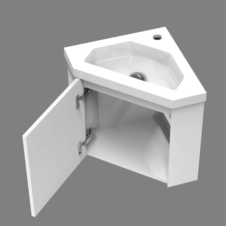 Meuble De Rangement Blanc 40cm Aica Sanitaire Meuble Dangle Moderne Meuble Lave Mains A Suspendre Avec Lavabo Meubles Lavabos