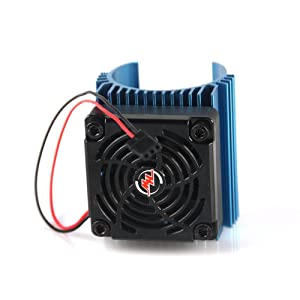 Hobbywing Ezrun 5V C4 Cooling Fan & 44 x 65mm Motor Heat Sink System RC Motor Fan For 1/8 Car#86080130 Blue,Get funshobby decal