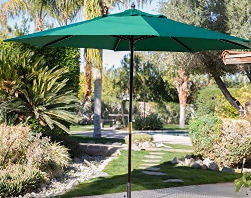 Offset Patio paraguas, grande al aire libre Paraguas, Pantallas de sol para patios, 11-ft. spun-poly madera paraguas. Mantenerse a la sombra mientras disfruta de la al aire libre: Amazon.es: Jardín
