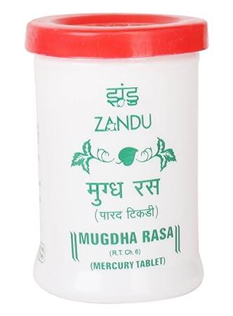 Zandu Mugdha Rasa Mercury Tablet, 100 g (35 Tablets)