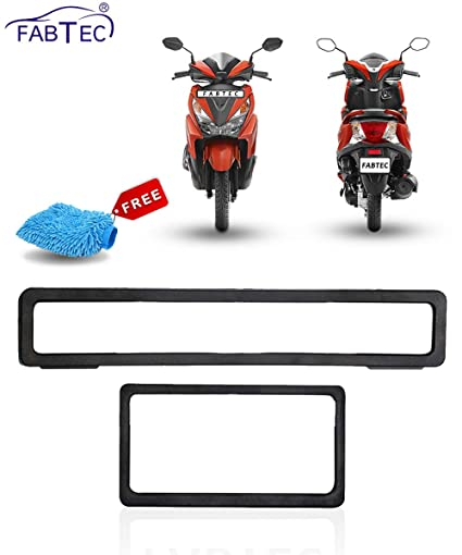 Fabtec Bike Number Plate Frame for Honda Grazia with Microfiber ...