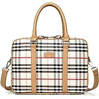 "Maletín de Cuero de la PU para Las Mujeres Lattice Laptop Bag Hombro Messenger Bag Business Work Bag para 13.3""14"" 15.6""Laptop/Notebook Computer Bag (15.6"")"
