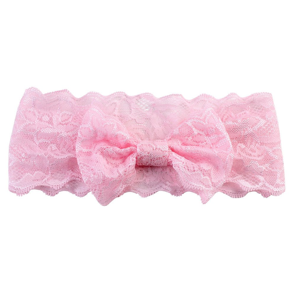 ❤️ Mealeaf ❤️ 2015 Girls Lace Big Bow Hair Band Baby Head Wrap Band Accessories(PK,)
