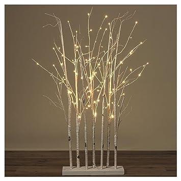 Weihnachtsdeko Aus Birke.B O L T Z E Led Baum Birke H150 Cm Weiss Materialmix Weihnachten