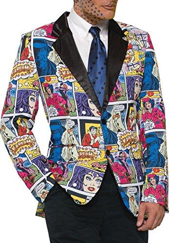Comic Art Pop Costume (Forum Novelties Comic Book Blazer Adult Costume Standard)