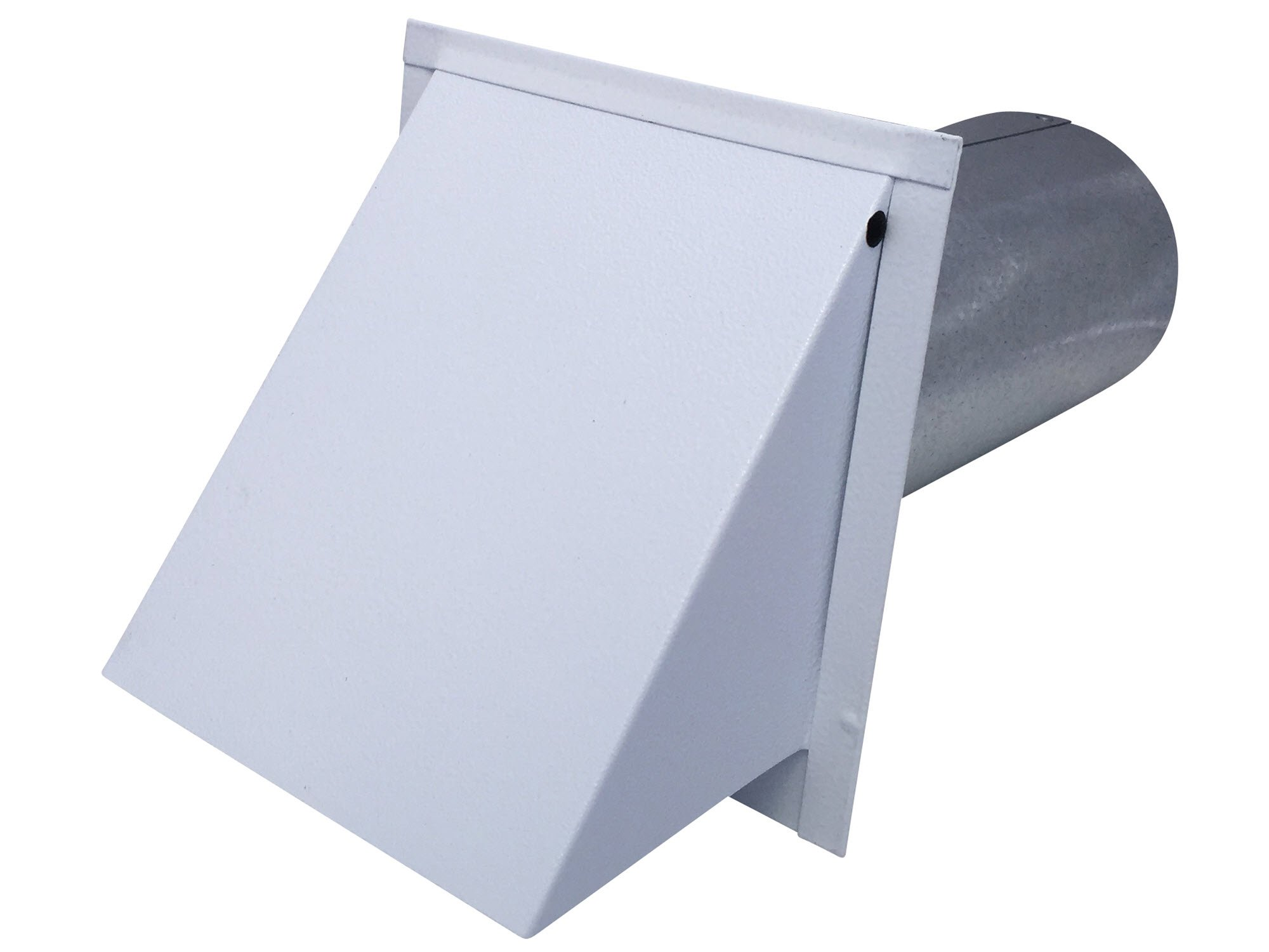 Dryer Wall Vent White Powder Coated Steel (Standard 4 Inch Diameter Exhaust) - Vent Works