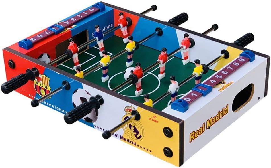 Futbolín de mesa Juegos Mini compacto de mesa Juego de fútbol futbolín for adultos y niños recreativo portátil de mano Fútbol Foosball Tabla Competencia Juegos de mesa Diversión portátil Fútbol Foosba: Amazon.es: