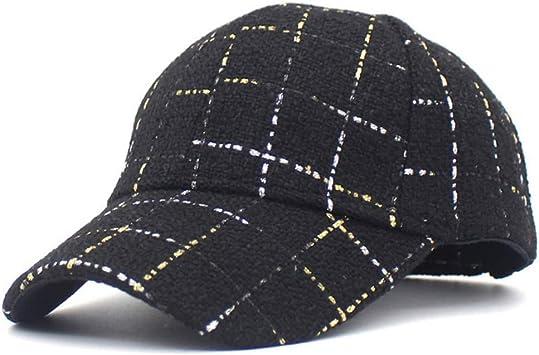 WBSNA Gorras de béisbol de Tela Escocesa de Blanco Negro para ...