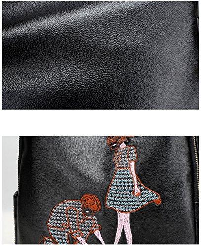 Nuovo sacchetto di spalla del ricamo / versione coreana femminile dello zaino / sacchetto universitario / sacchetto di mummia di grande capacità / sacchetto di corsa ( stile : 2 )