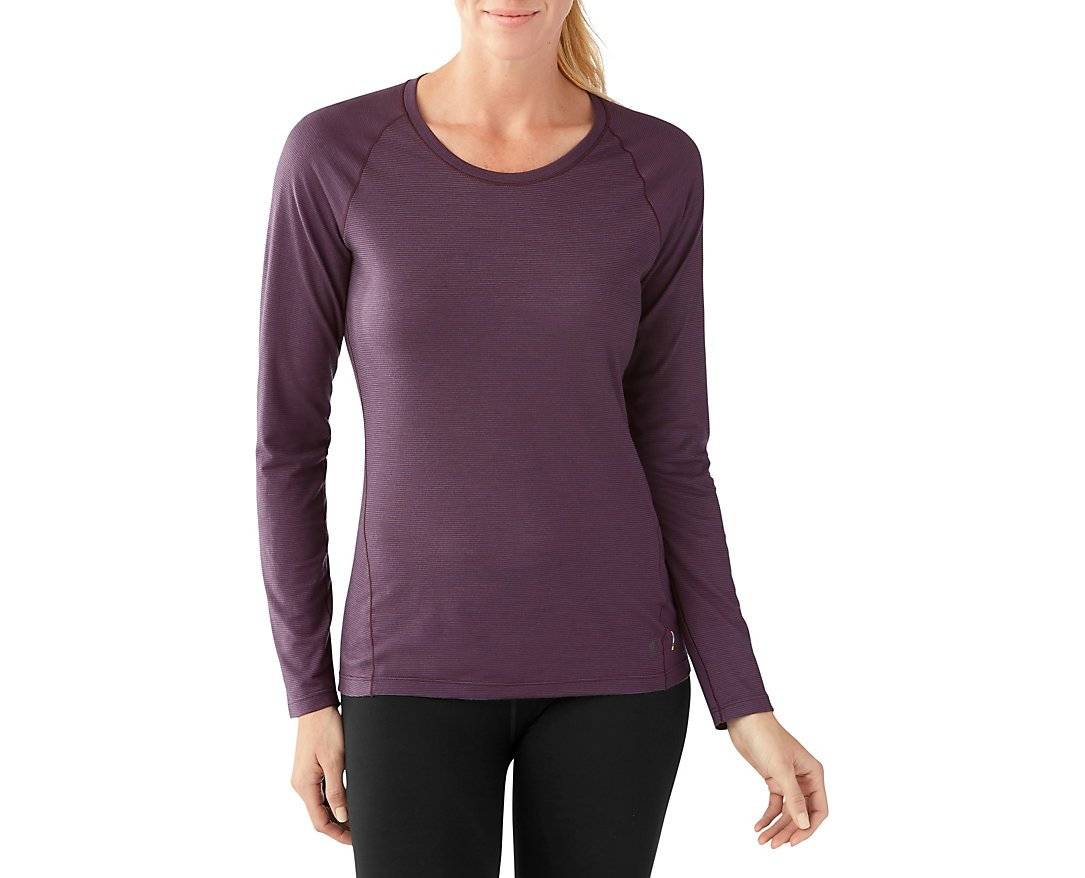 Smartwool Women's Merino 150 Baselayer Pattern Long Sleeve (Bordeaux) Large