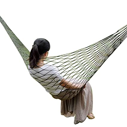 SHOPBEST Portable Outdoor Hammock Hang Bed Travel Camping Swing