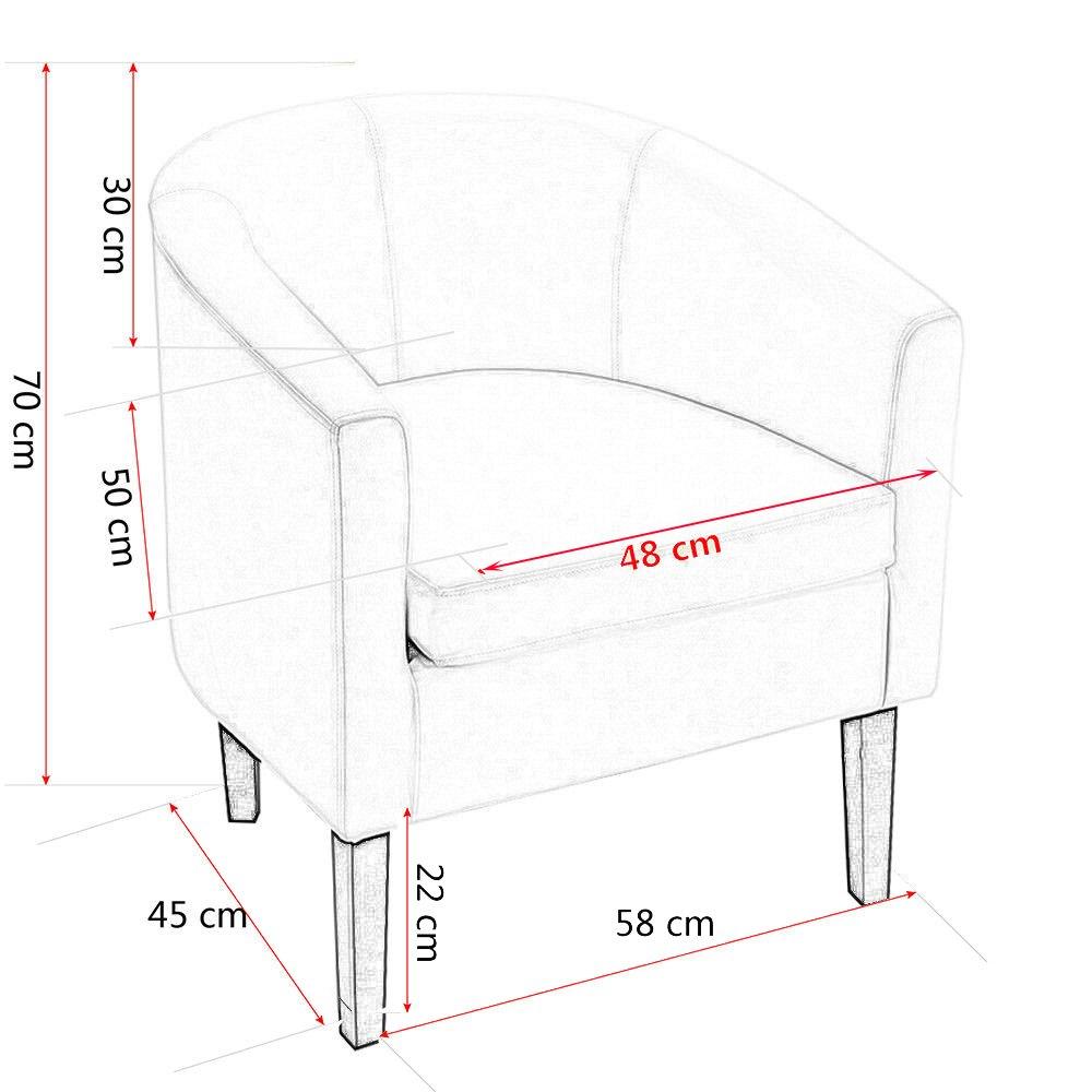 58x45x70cm Butaca Moderna Sill/ón Relax Tela Estampado Flores para Sala Oficina Dormitorio Comedor Cocina Songtree