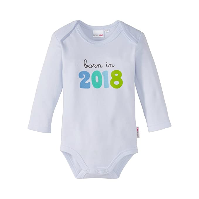 5cae913eb5327f Bornino Body Langarm Born in 2018 quot    Basics Baby Kleidung   100%  Baumwolle