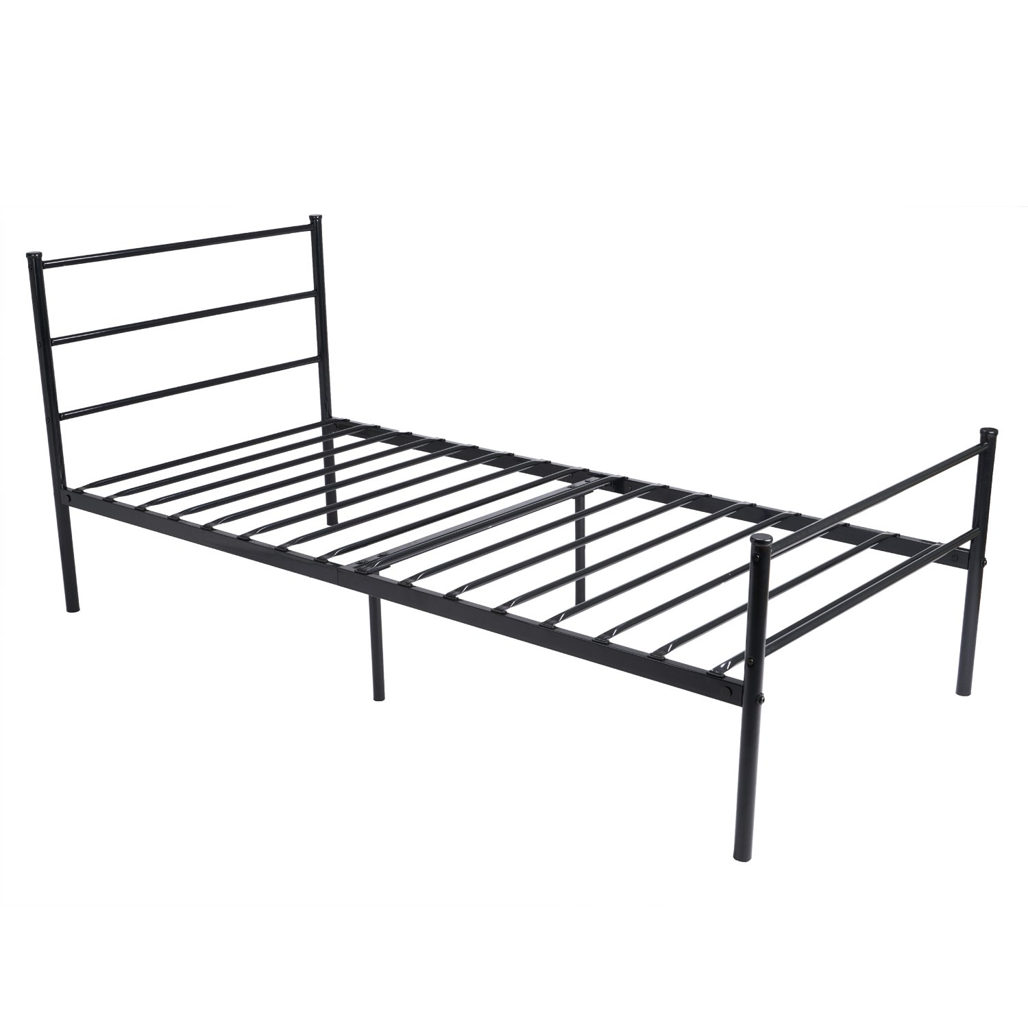 metal bed frame twin size greenforest two headboards 6 legs mattress foundation black platform bed frame box spring