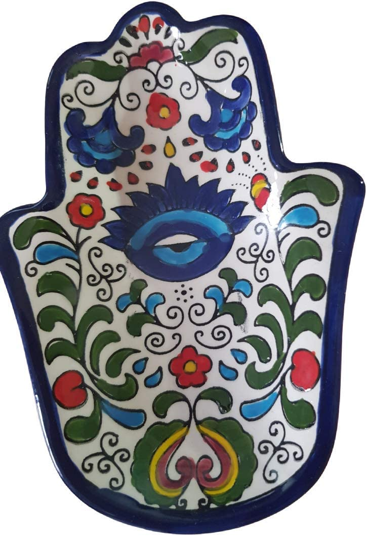 Mother Judaica blessing for my home. Decorative wall Hamsa Evil Eye Bowl Symbolic Protection Kitchen Decor