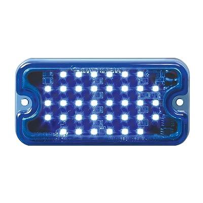 GG Grand General 81748 Blue/Blue LED Light (Small Rectangle Multi-Strobe 36, 8 Flash Pattern): Automotive