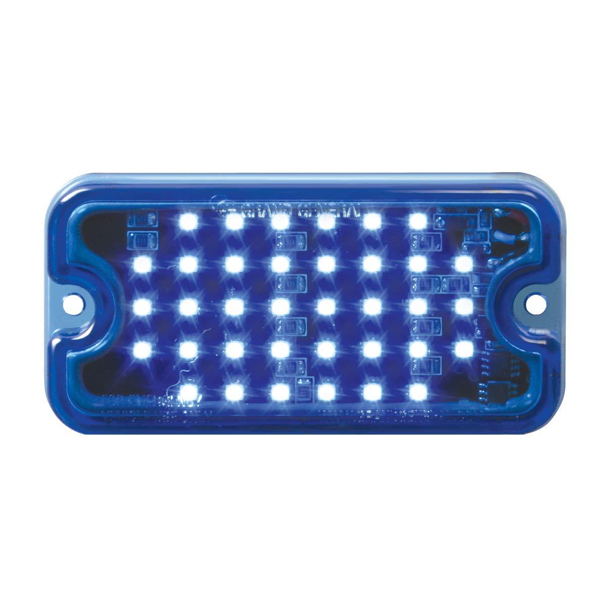 GG Grand General 81748 LED Light (Small Rectangle Blue Multi-Strobe 36-, 8 Flash Pattern)