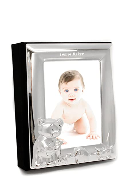 Personalised Silver Plated Baby Photo Album 4x6 Frame Amazonco