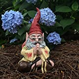 "1970's Zen Hippie Dude ""Jerry G"" Sitting Meditating Yoga Gnome Home and Garden Statue Figurine"