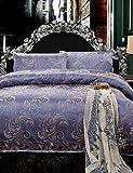 GAOL, four-piece suit,100% Cotton Comfortable Luxury Floral Pattern Duvet Cover Sets,Queen/King Size , king
