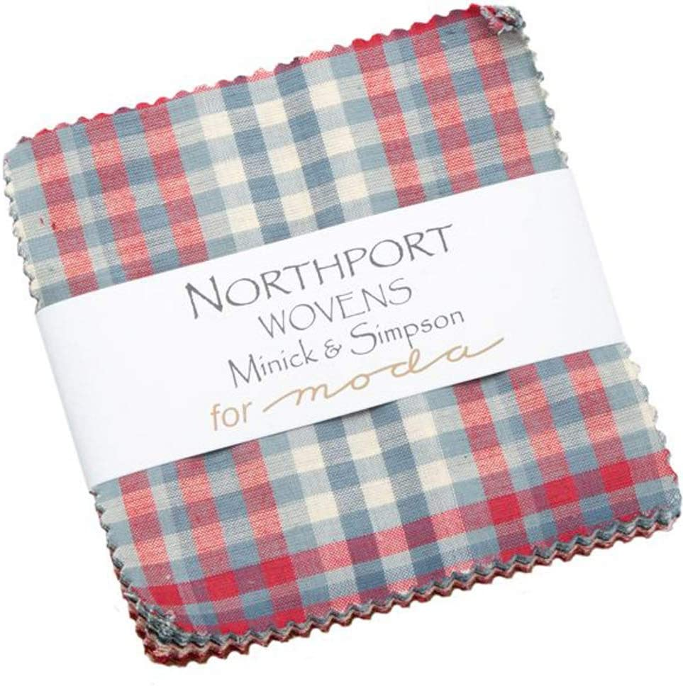 Northport Wovens Charm Pack by Minick & Simpson; 42-5 Inch Precut Fabric Quilt Squares