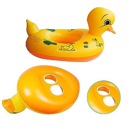 Amazon.com: De los niños pato de piscina flotante inflables ...