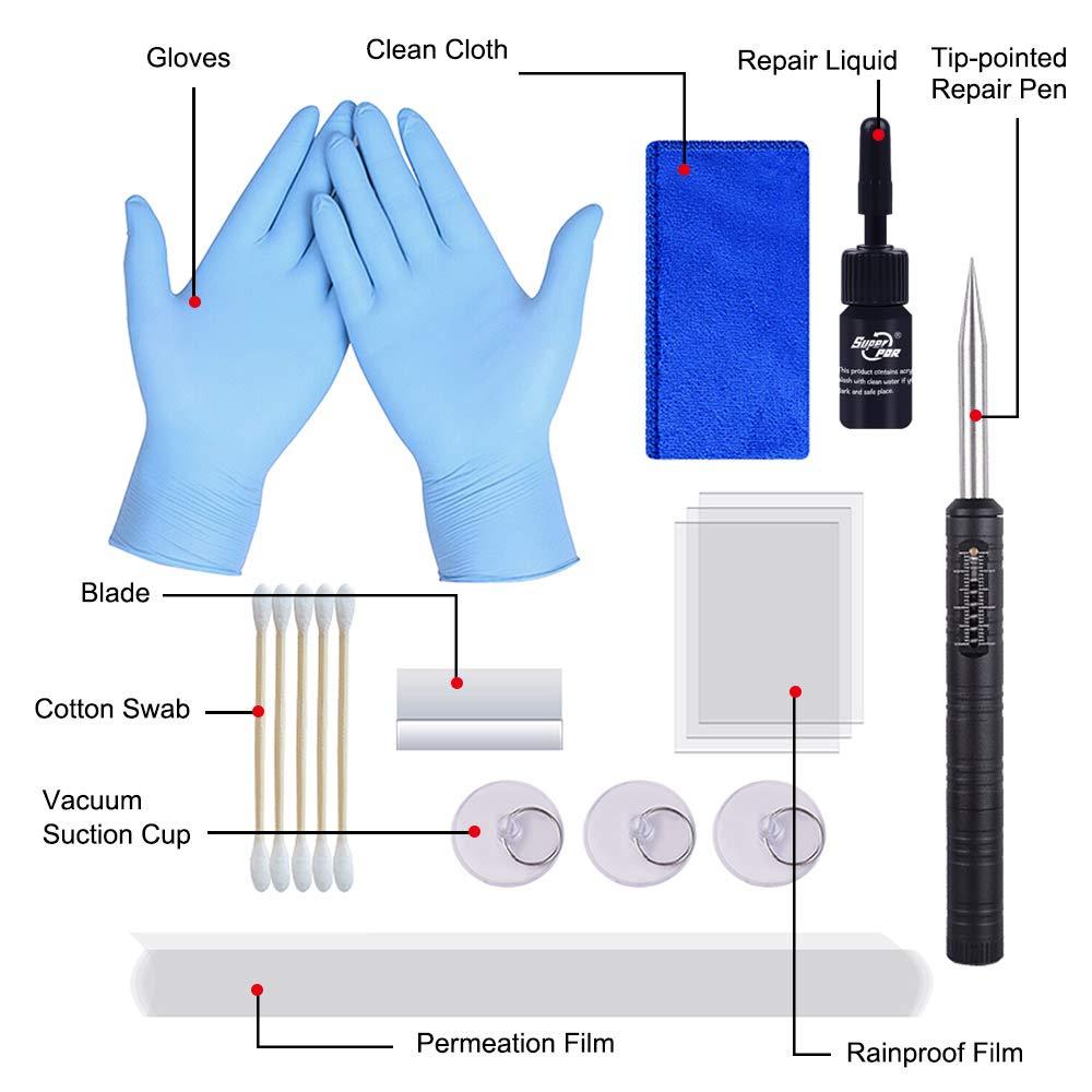 aktualisierte Modelle PDR Windschutzscheiben-Reparatur-Set DIY Vakuum-Auto-Glas-Reparatur-Werkzeug Freies Bohren Glas Reparatur Kit