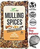 Mulling Spices for Mulled Wine Apple Cider Teas Kit: Holiday Special with Free 2'' Tea Strainer - Infuser! Original 1 Pound Bulk Bag - Mix of Orange Peel, All Spice, Cloves, Cinnamon Sticks Blend.