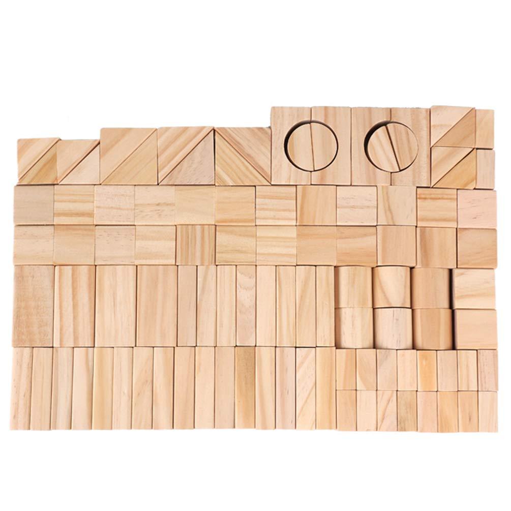 Unidad Est/ándar Pila de Cubos Apilables Juguete de Desarrollo Caja de Regalo 100 Pcs para Ni/ños Ni/ños en Edad Preescolar Ni/ños y Ni/ñas Nanlille Juego de Tablones para la Construcci/ón