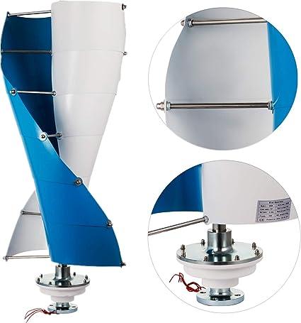 VEVOR espiral de turbina de viento generador de turbina de viento 3 Fase eje vertical tipo generador de viento Kit: Amazon.es: Jardín