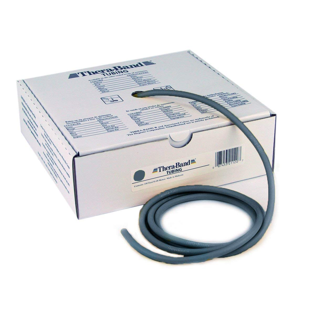 Hygenic Corporation (a) Thera-Band Resistive Exercise Tubing- 100 Ft.- Silver