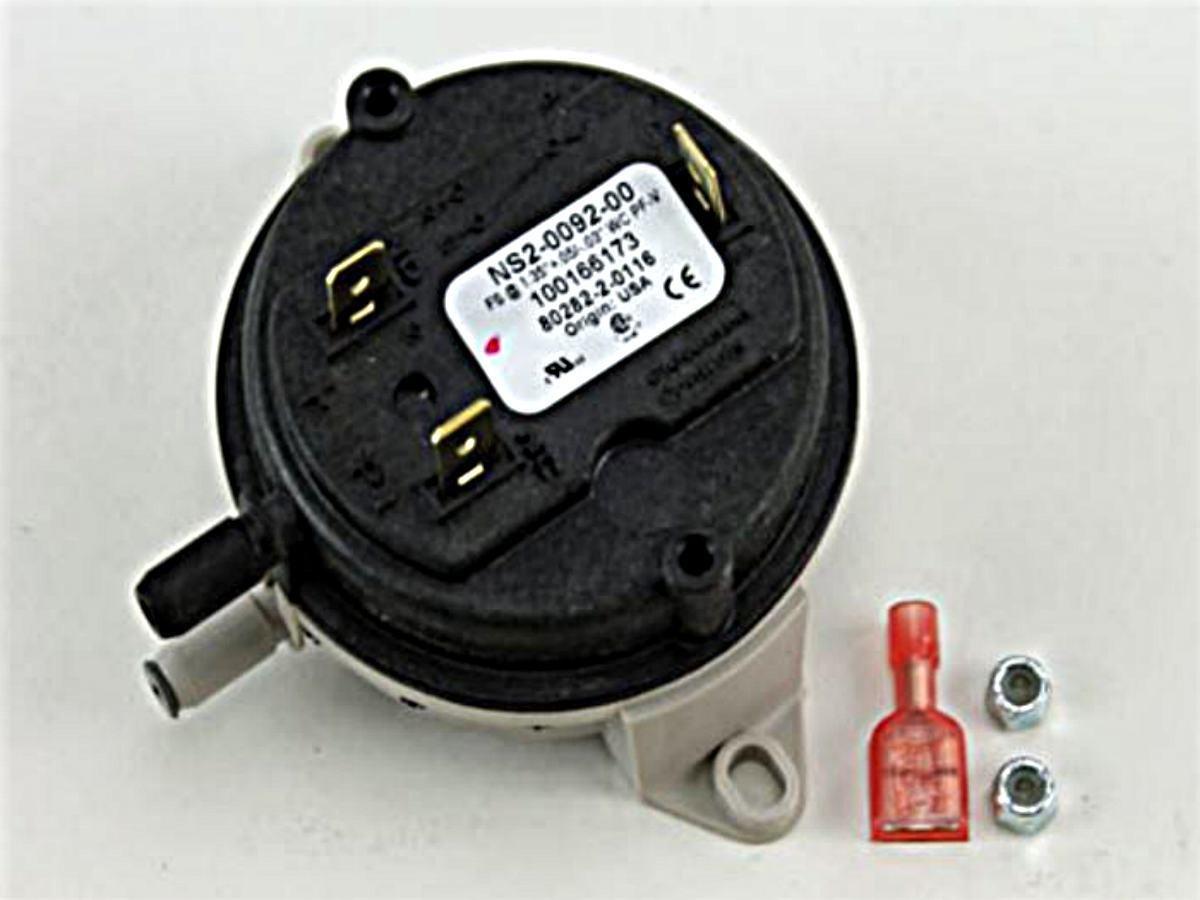 PF-V SPDT Pressure Switch New Lochinvar Part Number 100166258 Lochinvar PRS3428 Pressure Switch 1.35 Water Column 1.35 W.C