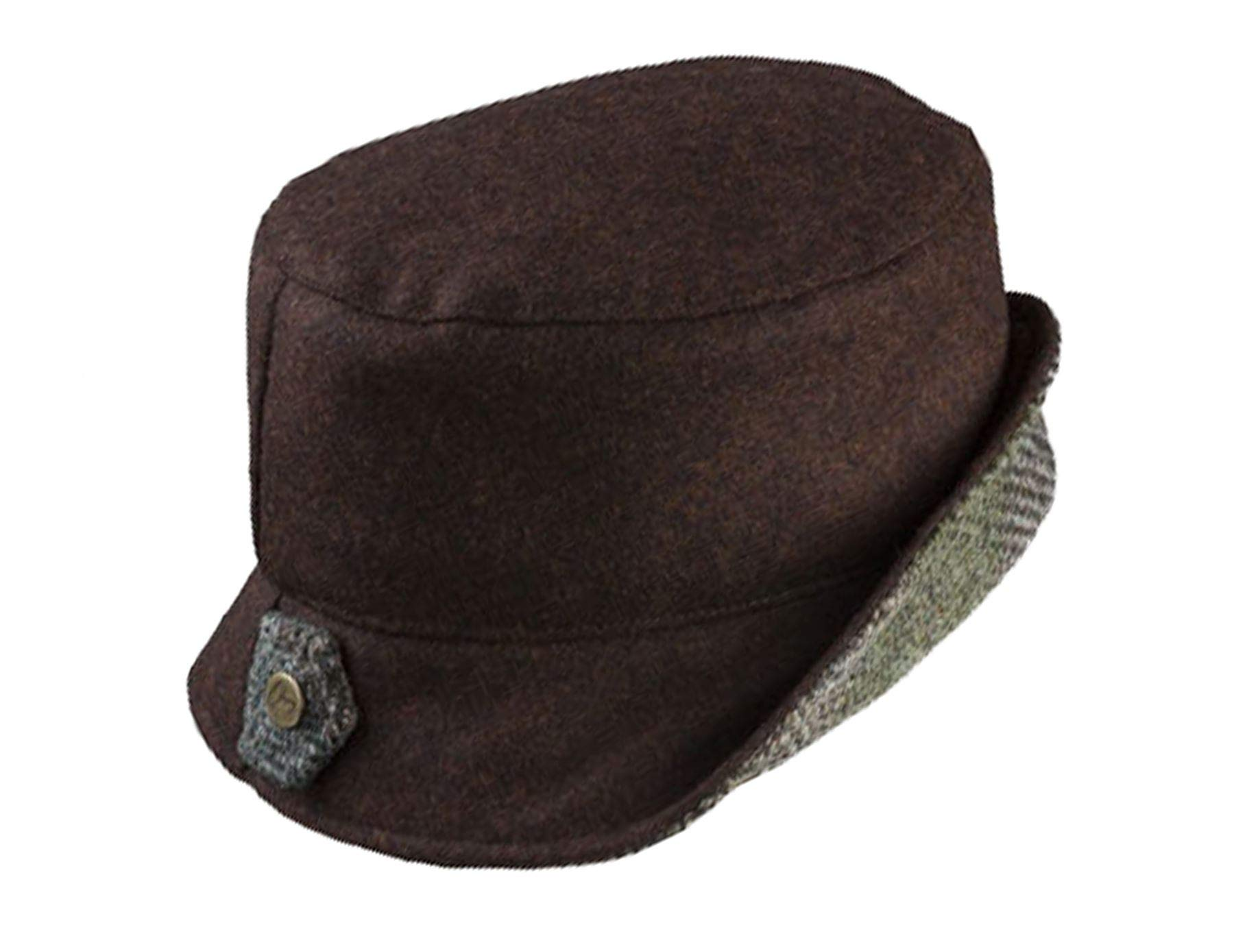 Olney Sara Ladies Wool Tweed Cloche Hat - Brown by Olney Hats