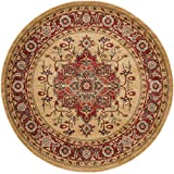 Cheap Safavieh Mahal Collection MAH698A Traditional Oriental Red and Natural Round Area Rug (5'1″ Diameter)