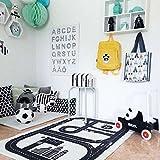 Lzttyee Rectangle Highway Pattern Baby Racing Game Blanket Crawling Mat Adventure Carpet Playmats Area Rug for Kid's Bedroom