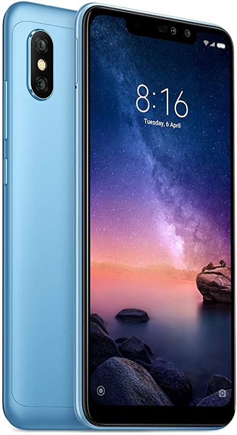 Xiaomi Redmi Note 6 Pro - Smartphone de 64 GB, Color Azul [Italia] (Reacondicionado): Amazon.es: Electrónica