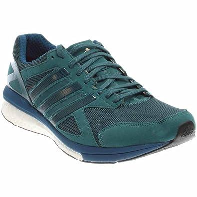 adidas Performance Mens Adizero Tempo 8 m Running Shoe Tech Green Tech  Steel