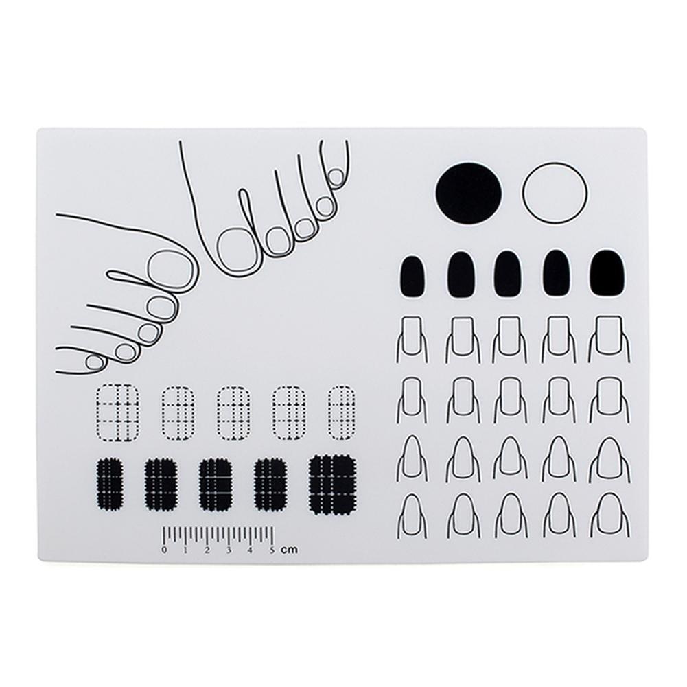 Everpert - Alfombrilla de silicona para estampar uñas, para práctica de colorear