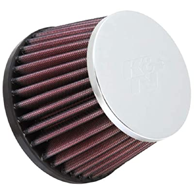 K&N Universal Clamp-On Air Filter: High Performance, Premium, Replacement Engine Filter: Flange Diameter: 2.5 In, Filter Height: 3.1875 In, Flange Length: 0.75 In, Shape: Round Tapered, RC-8100: Automotive [5Bkhe0801227]
