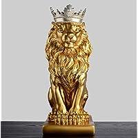 Qinddoo Oro Corona Leone Statua Artigianato Decorazioni Decorazioni Natalizie per la casa Scultura escultura Accessori per la Decorazione della casa