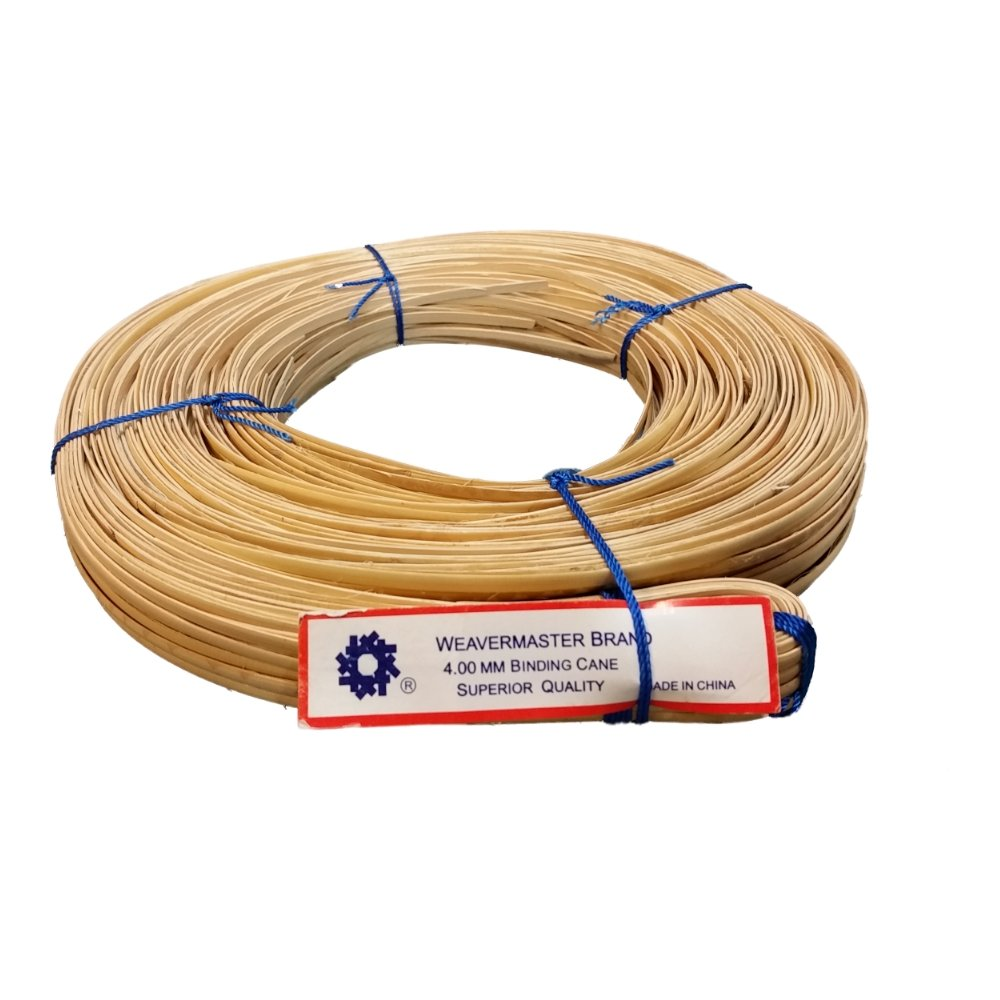 New 500' Hank of Binding Cane Binder 4 Sizes to Choose From, 4mm 5mm 6mm or 8-10mm for Baskets, Seat Weaving and Wrapping Wicker Furniture (4mm) Weavemaster bindercane