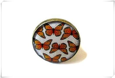 cae3e6b4a A little little love Butterfly Ring, Orange Butterfly Ring ...