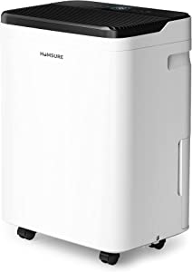 HUMSURE 4500 Sq. Ft Dehumidifier for Basements' 70 Pints Moisture Removal, Whole House Dehumidifier with Auto Shut-off, Portable Dehumidifier with Drain Hose & 5L Water Tank for Optional Drainage